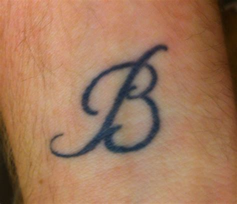 tattoo of alphabet b tattoo taboo