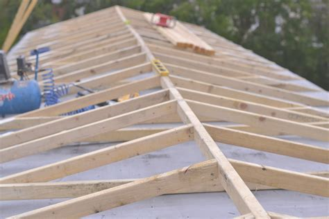 How To Roof A House by Metal Roof Rafters
