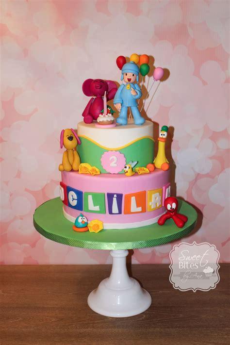 pocoyo birthday cake pocoyo themed birthday cake cakecentral