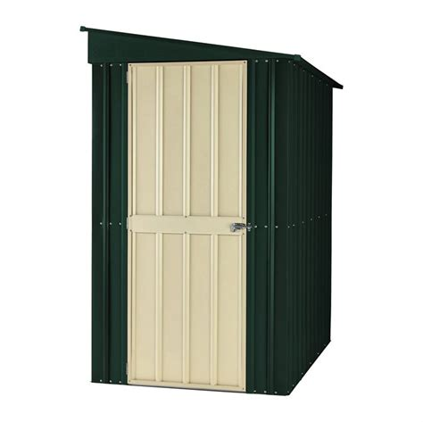 lotus 4 x 8 lean to metal storage shed