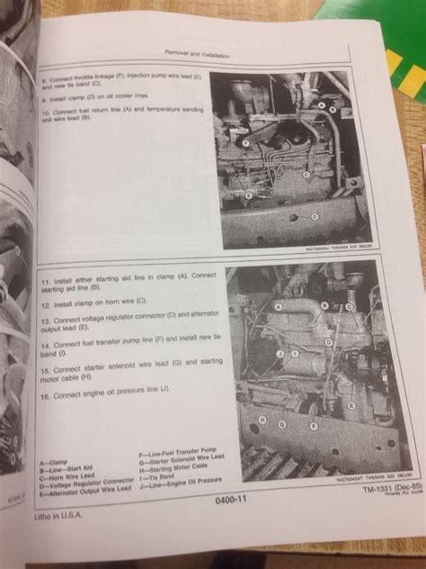 deere jd 550b 555b crawler service technical repair