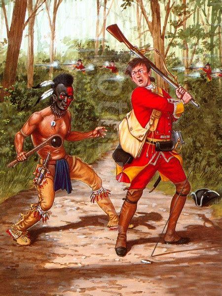 huron warrior   french  indian war british