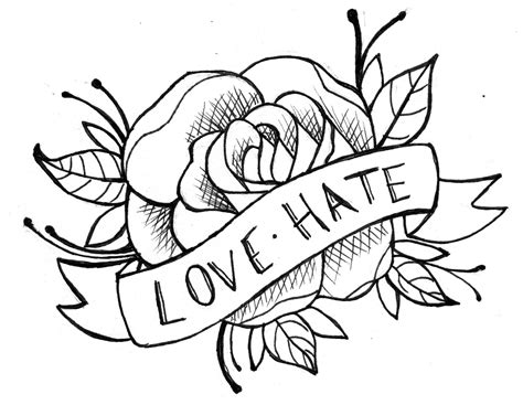 easy rose tattoo designs simple tribal flower ideas jpg