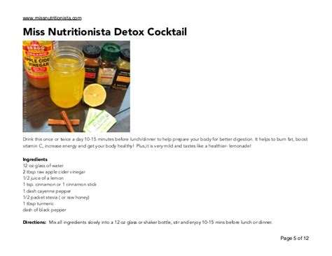 Http Pages Thealternativedaily Cb Detox Cayenne by Miss Nutritionista Detox Plan