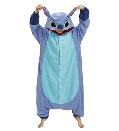 stitch costume es unico 174 blue stitch costume animal onesie kigurumi pajama for and