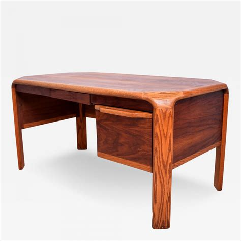 Walnut Desk Modern Lou Hodges Lou Hodges Mid Century Modern Desk Walnut And Oak
