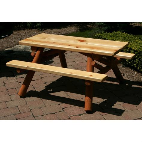 Childs Picnic Table by Moon Valley Cedar Works Nicholas Collection 4 Child S Picnic Table 228541 Patio Furniture At
