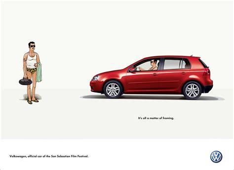 volkswagen ddb volkswagen print advert by ddb framing 2 ads of the
