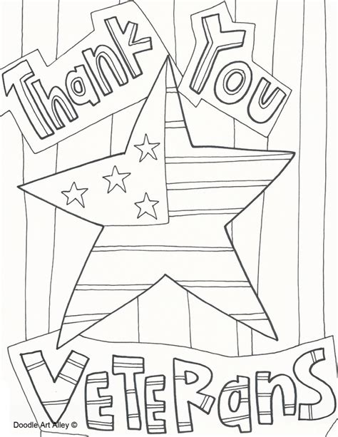 veterans day coloring page to print veterans day celebration doodles thank you veterans