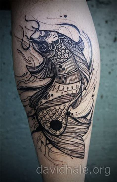 koi inside warp tattoo here my tattoo a koi fish tattoo design gets a makeover by david hale