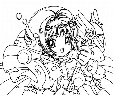 anime coloring pages for kids az coloring pages