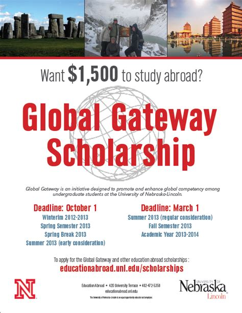 global gateway scholarship due march 1st announce