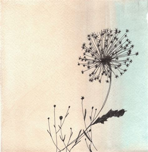 watercolor tattoo dandelion pretty dandelion drawing drawings artworks