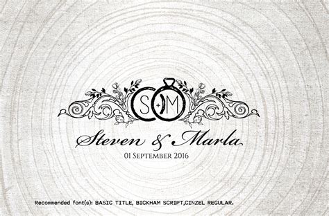 Wedding Logo by Vintage Wedding Monogram Wedding Logo By Linvit