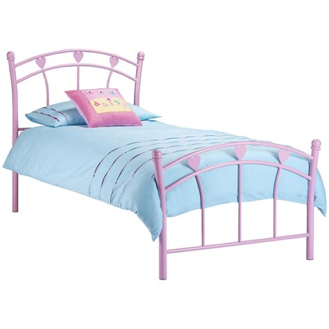 kids bed frames pink childrens kids girls metal bed frame bedstead single