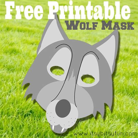wolf mask template printable wolf mask free printables