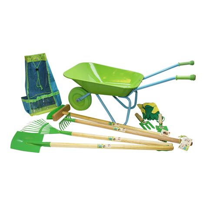 Gardening Set by Childrens Gardening Tool Set With Wheelbarrow Gift
