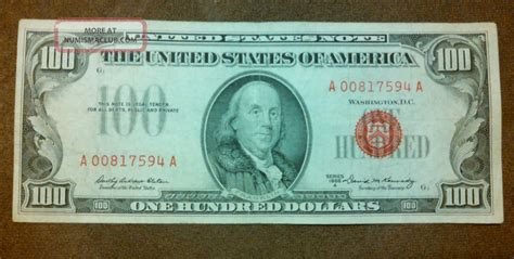 Who Makes The Paper For Us Currency - 1966a 100 dollar bill u s note seal paper