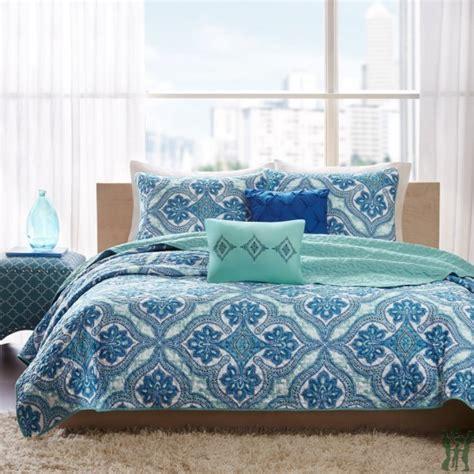 intelligent design lionna blue coverlet set id8027071
