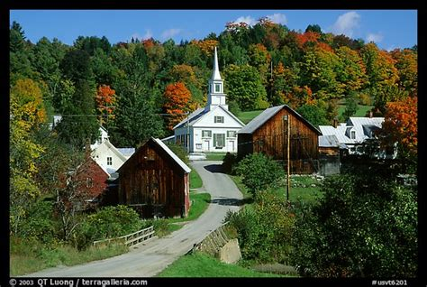 villages in america picture photo waits river village vermont new england usa
