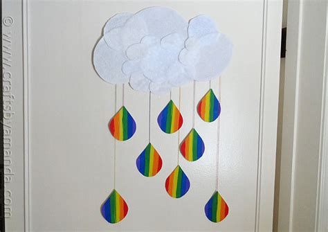 And Craft Paper Work - rainbow crafts cloud and rainbow raindrops crafts by amanda