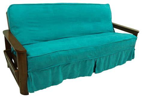 aqua sofa slipcover shop houzz blazing needles solid microsuede 8 to 9 inch