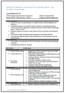 Sample Perfect Resume and resume samples with free download perfect resume for ca fresher