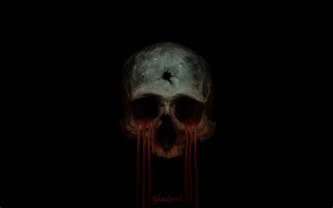 Skull Blood when the skulls cry blood by ghaderal on deviantart