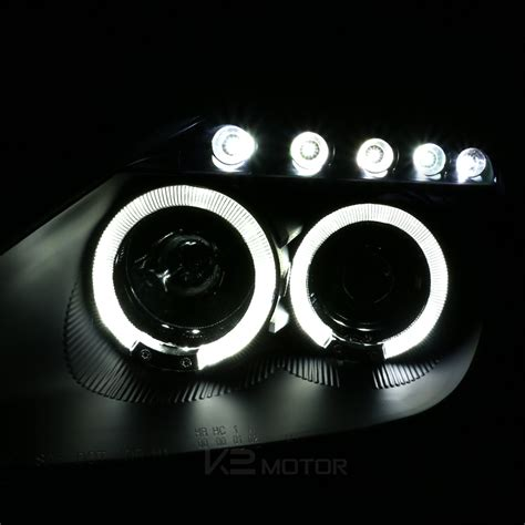 00 05 Toyota Celica Dual Halo Led Projector Headlights Black Led Projector Lights