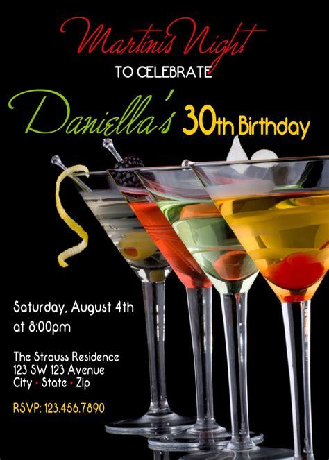 martini birthday martini party martini night invitation martini invitation
