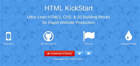 html kickstart themes responsive css html5 frameworks to be in the right frame