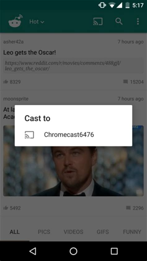 cast for android how to cast queue reddit posts to chromecast from your android phone