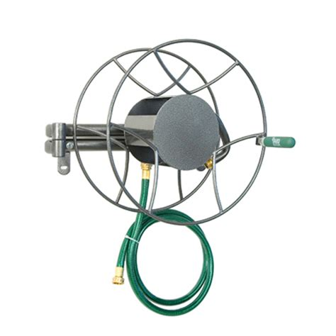 Top Rated Garden Hose Reel Buying Guide The Eley Rapid Wall Mount Garden Hose Reel Metal