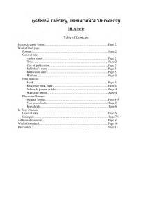 apa table of contents 6th edition template best photos of table of contents page apa format exle