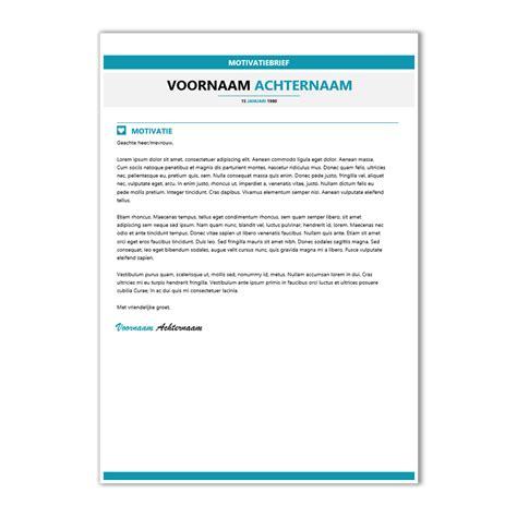 Voorbeeld Een Cv En Motivatiebrief Op 1 A4 Voor Een motivatiebrief template cv maken 2018