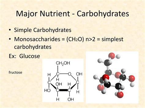 carbohydrates a nutrient ppt food chemistry powerpoint presentation id 4357187