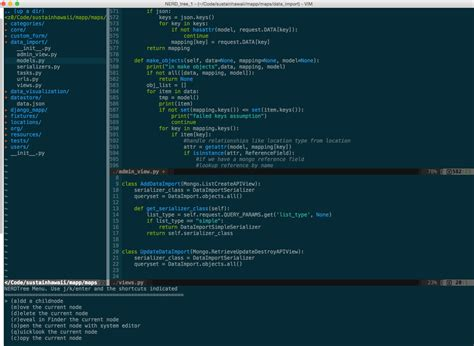 log in python layout vim and python a match made in heaven