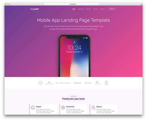 60 Responsive Free Html Website Templates 2018 Colorlib Html Web Application Templates Free