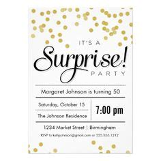 surprise parties surprise party invitations and party