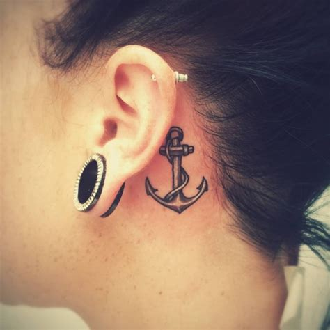 behind ear tattoo pain 80 best the ear designs meanings