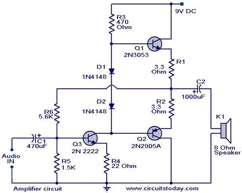 transistor lifier audio circuit low cost lifier circuit using three transistors