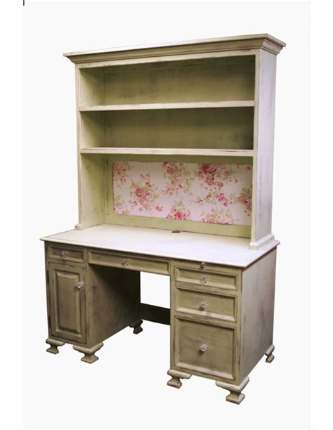 vintage computer desk hutch by country cottage