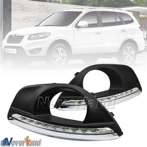 hyundai santa fe light cover led daytime running light for hyundai santa fe drl fog