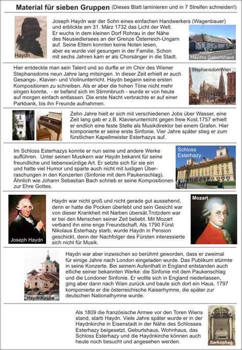 Tabellarischer Lebenslauf Joseph Haydn Joseph Haydn