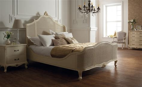 bed soft bed soft white with cane panels rococo bedroom designs