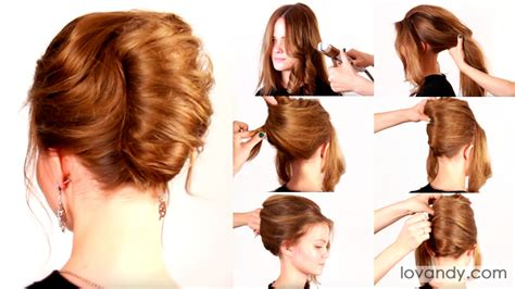 step by step twist hairstyles french roll hairstyle step by for long hair the newest