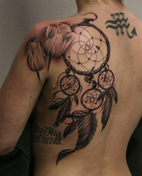 dream catcher tattoo on back mandala dreamcatcher on shoulder