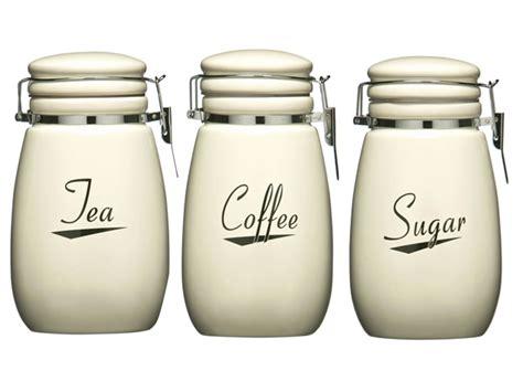 cream kitchen canisters cream coronet kitchen ceramic storage canisters jars set