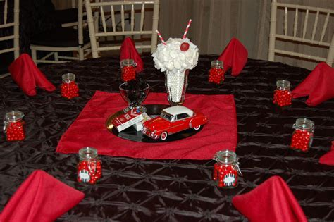 1950's Table Decoration   Edible Centerpiece   Diecast Car