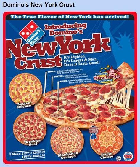 domino pizza new york crust food promotions domino s new york crust